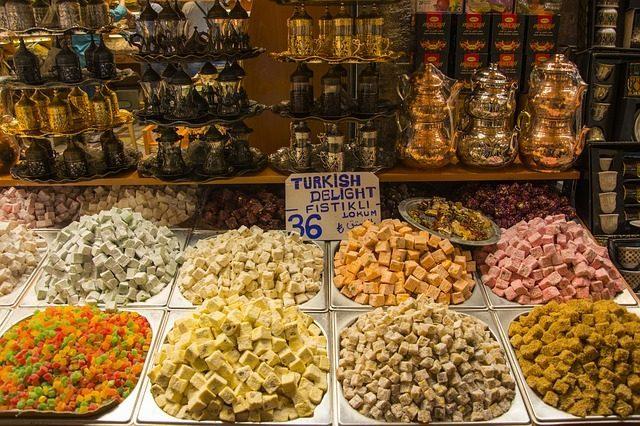 Рахат-лукум, сладости - 11 подарков из Турции